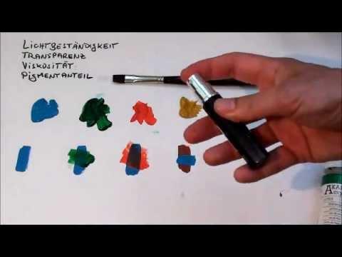 tipps f r anf nger der acrylmalerei 2 farben youtube. Black Bedroom Furniture Sets. Home Design Ideas