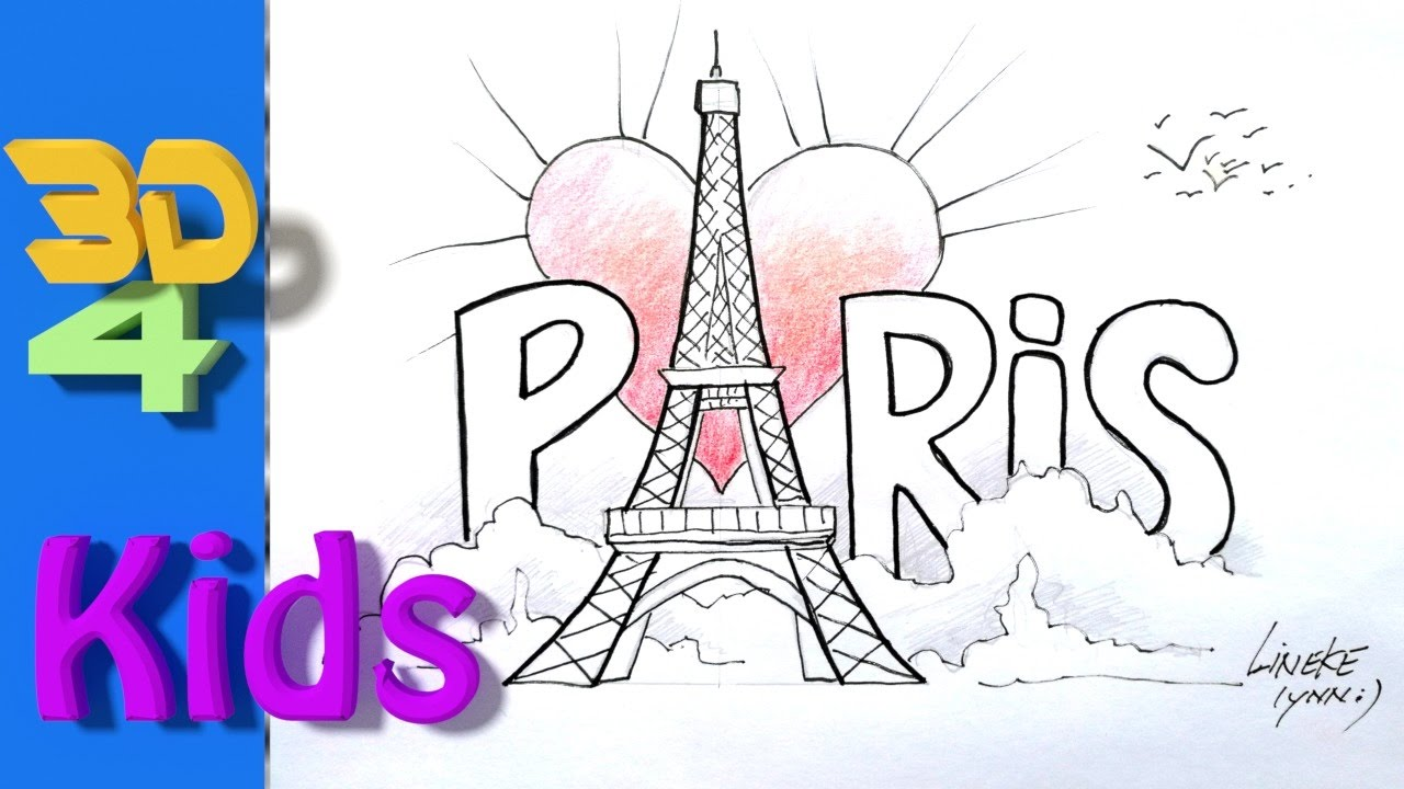 8th Gradehow To Draw The Eiffel Tower For Kids Youtube