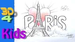 8th GradeHow to Draw the Eiffel tower for Kids