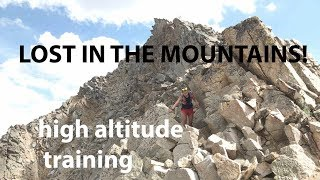 GETTING LOST IN THE MOUNTAINS AT 13,000' (4000m): Missouri to Huron 14ers | Sage Canaday Running