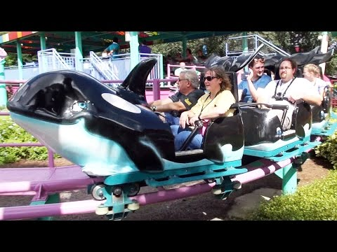 Shamu Express POV Ride at SeaWorld Orlando, National Roller Coaster Day 2016, 1080p 60fps