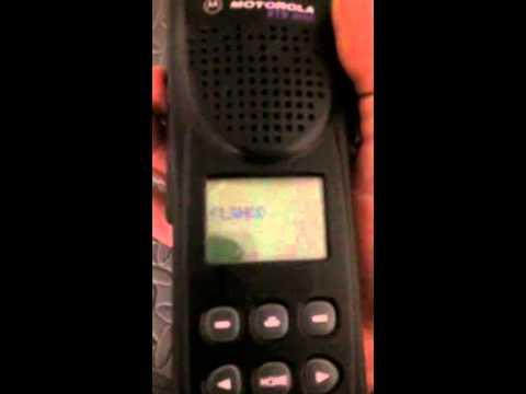 Motorola XTS3000 - How to put the unit into