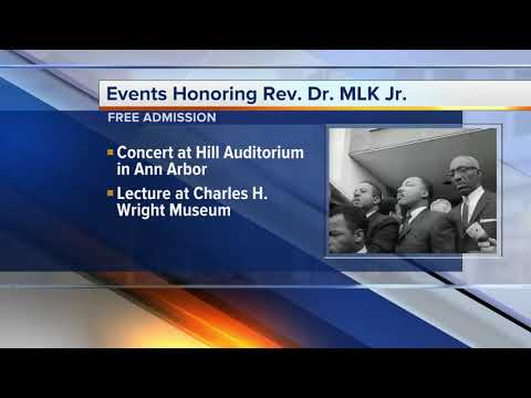 These are the metro Detroit events honoring Martin Luther King, Jr.