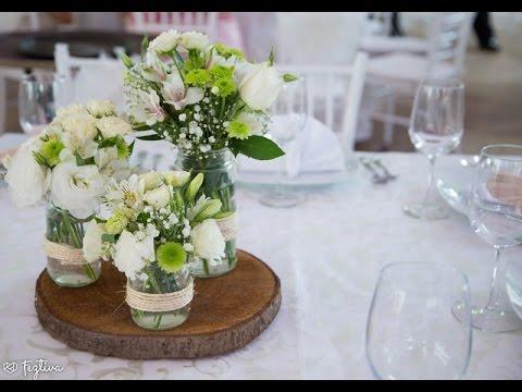 Como hacer centros de mesa con flores naturales youtube for Como hacer adornos con plantas naturales