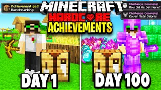 I Survived 100 Days Getting EVERY ADVANCEMENT in Hardcore Minecraft. Here's What Happened.