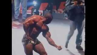 The Bodybuilding Legend Vince Taylor Posing on Stage Available at Prime Cuts Bodybuilding DVDs   You