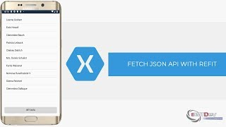 Xamarin android tutorial fetch json from api with refit and display