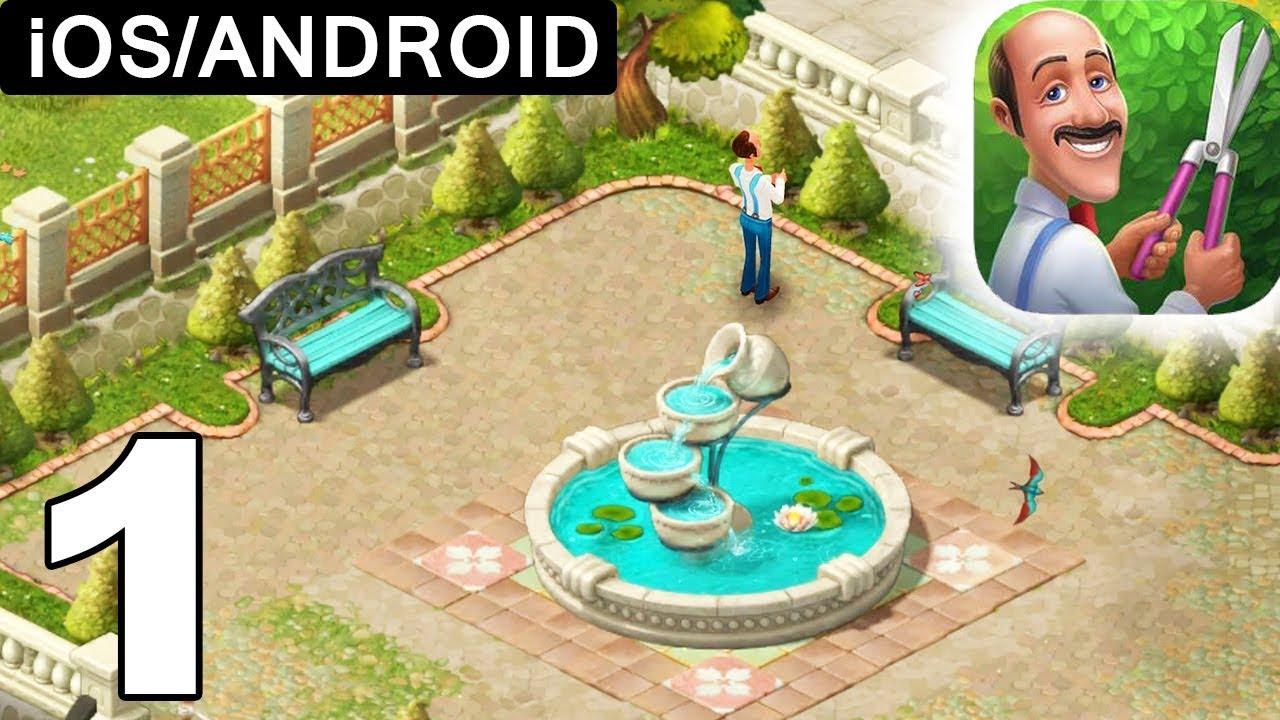 Gardenscapes Walkthrough Level 1 Restoring Garden Ios Android Youtube Backyard garden escape walkthrough