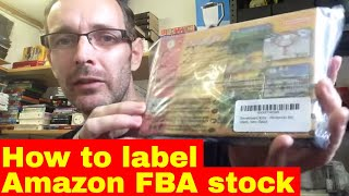 Preparing an Amazon FBA shipment for dispatch - Self labelling the stock