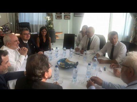 Visite surprise du ministre iranien des Affaires étrangères Mohammad Javad Zarif au G7