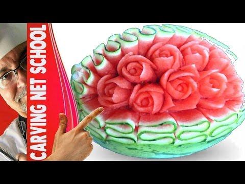 ♛ Lesson 30, Fruit & veg Carving, Escultura em frutas e legumes, การแกะสลักผลไม้, 水果雕刻, Ukiran buah