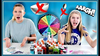No Bowls No Spoons Slime Challenge | Taylor and Vanessa