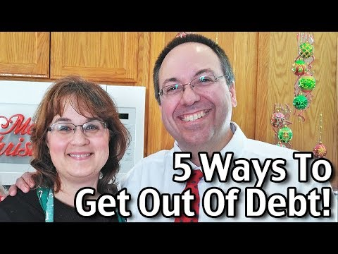 5 Ways To Get Out Of Debt!