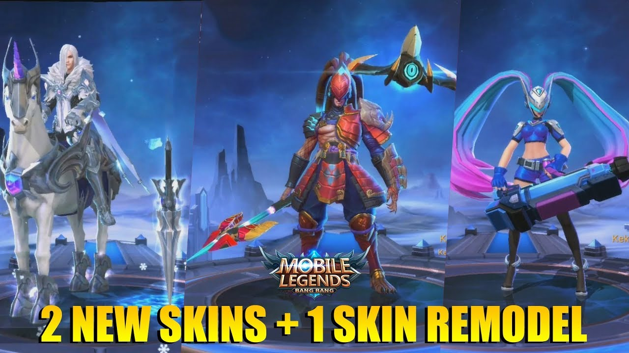 2 Skin Keren Alpha Crimson Warrior Leomord Frostborn Paladin Layla Blue Spectre Remodel Youtube