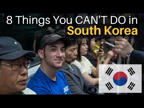 8 Things You CAN'T DO in South Korea