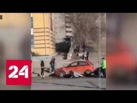 В Самаре таксисты не поделили пассажира - Россия 24
