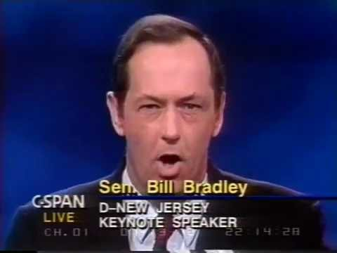 Bill Bradley DNC Keynote Address 1992