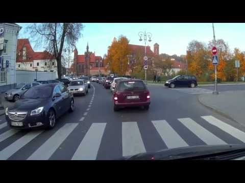 Vilnius old town, filmed by Mobius action cam