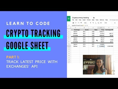 How To Code Google Sheets To Track Cryptocurrencies Prices