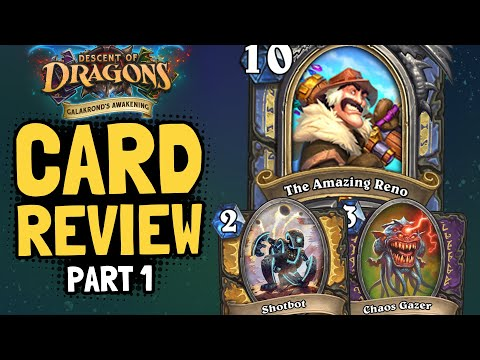 NEW CARDS!!!! RENO HERO CARD!! First Reveals of New Adventure!   Awakening Review #1   Hearthstone