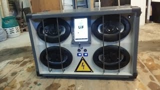 Repeat youtube video Portable DIY festival Boombox with Android Tablet - 4x100w