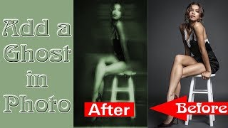 Photoshop Tutorial: GHOST! How to add a Ghost in a Photo part 2