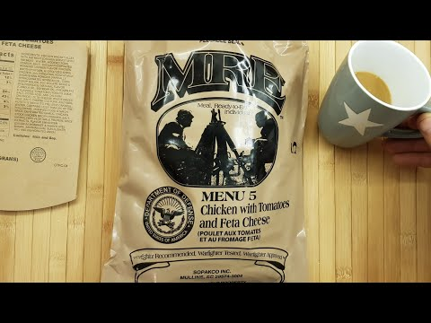 ✔ US ARMY MRE REVIEW: Menu 5 - Chicken with Tomatos and Feta Chicken ☆ MEAL READY TO EAT German Revi