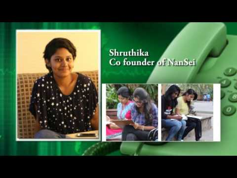 An Interview with NanSei Co -Founder Shruthikka hosted by #Chennai Radio.