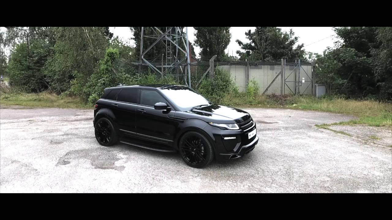 BLACKED OUT URBAN RANGE ROVER EVOQUE  YouTube