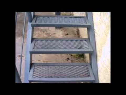 Yo vivo artesanal escaleras en hierro y aluminio con for Como hacer gradas