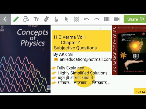 H C Verma Vol1 Chapter4 Subjective Questions# Part 1 Q1-9