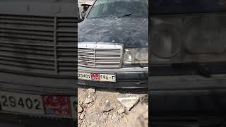 Брошенный Mercedes w124 500e в ОАЭ. Abandoned Mercedes 500e in UAE.