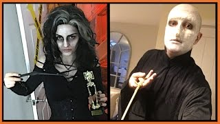 BELLATRIX LESTRANGE & VOLDEMORT COSTUME! | CHRIS & EVE