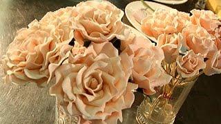 видео цветы из мастики