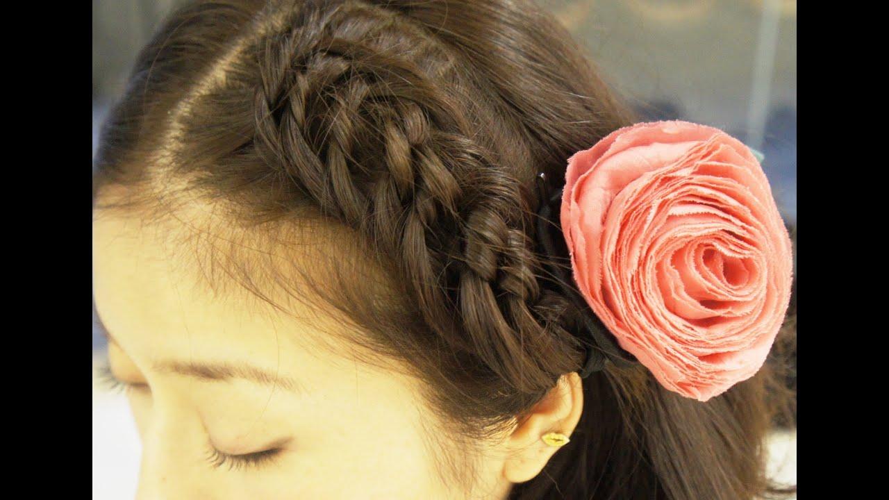 おかあさんといっしょに前髪を編み込み 女の子 子供髪型ヘアアレンジ , YouTube