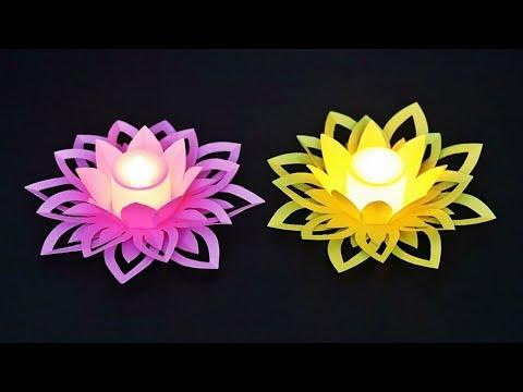 Diwali / Christmas Decoration Ideas   Diwali Lights Decoration Ideas at Home    Paper Crafts