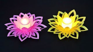 Diwali / Christmas Decoration Ideas | Diwali Lights Decoration Ideas at Home |  Paper Crafts