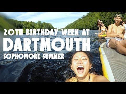 A WEEK IN DARTMOUTH SOPH SUMMER : I TURNED 20! | JustJoelle1