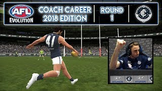 NEW CLUB - AFL Evolution Coach Career 2018 Edition (Round 1)