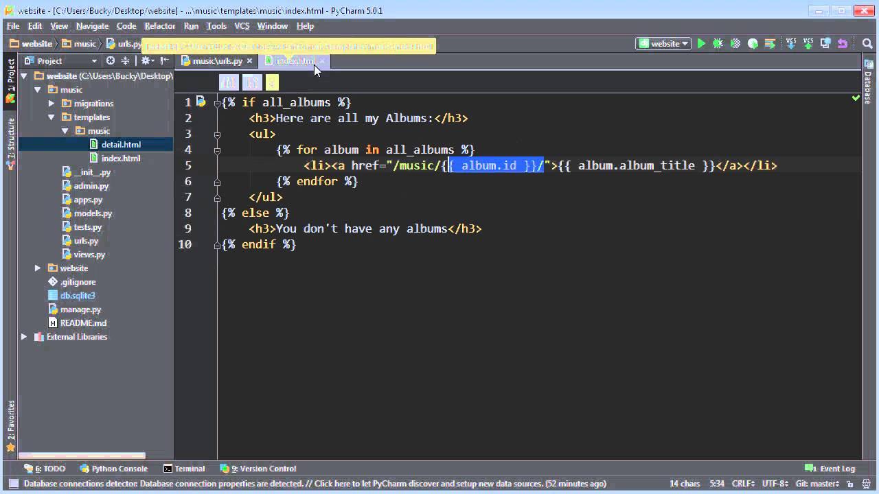 Django Tutorial for Beginners - 20 - Removing Hardcoded URLs - YouTube