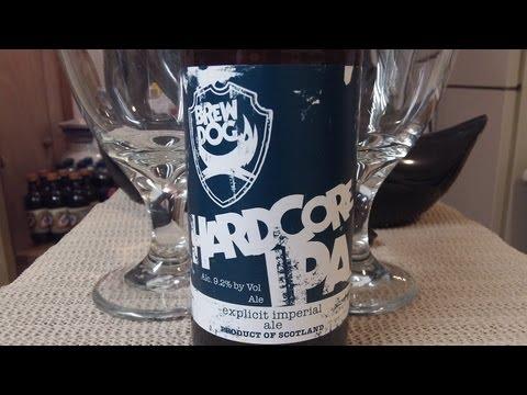 BrewDog HardCore IPA (SUPER FRESH) DJs BrewTube Beer Review #268