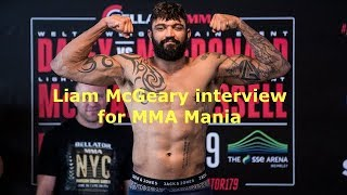Liam McGeary Interview Before Vadim Nemkov at Bellator 194