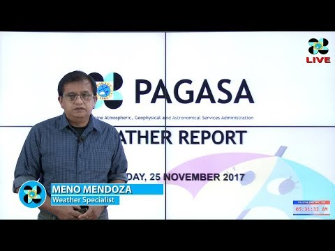 Public Weather Forecast Issued at 4:00 AM November 25, 2017