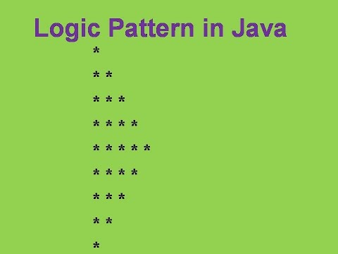 Logic Pattern in Java | Half Diamond