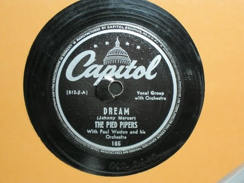 Dream - The Pied Pipers with Paul Weston and his Orchestra - Capitol Records 185 mp3