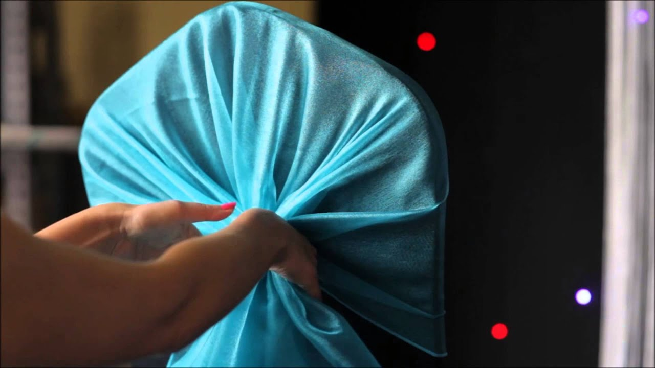 Chair Cover Depot Uk Stool Build How To: Tie A Hood Scrunch With Organza Sash Around - Youtube