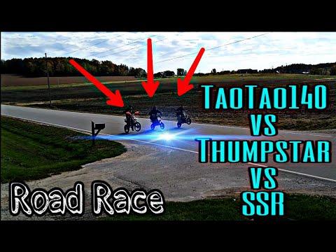 TaoTao 140cc vs Thump⭐ 125cc vs SSR 110cc Pit Bike Road Race!! |How FAST vs DBX1| Pit Bike Drag Race