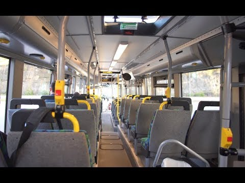 Sweden, Stockholm, ride with bus No 708 from Hallunda Centrum to Tumba train station