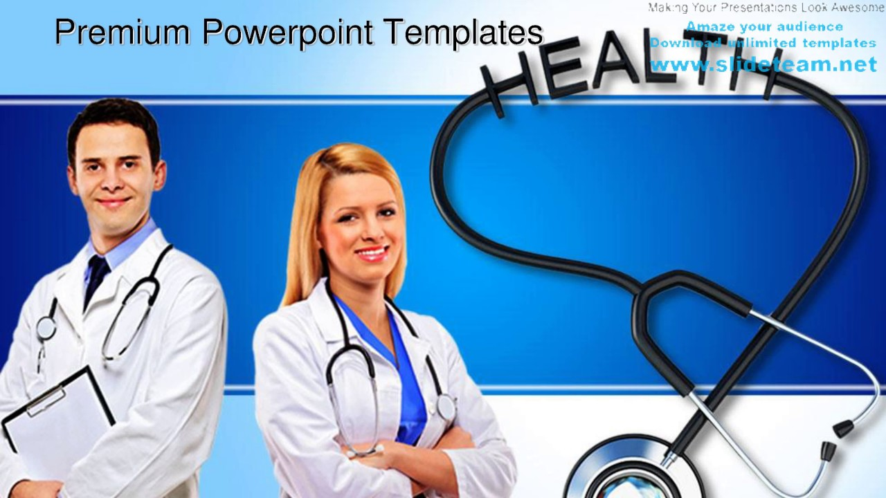 Stethoscope With Health Medical Powerpoint Templates Themes And