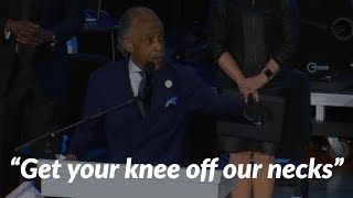 Al Sharpton speaks out at George Floyd memorial: 'Get your knee off our necks'